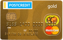 POSTCREDIT MASTERCARD GOLD